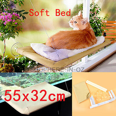 Warm Cat Window Hammock Bed Mounted Kitten Pet Sunny Comfortable Seat Fabric New