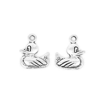 Pack of 10 x Antique Silver Tibetan 17mm Charms (Easter Duck) HA09295