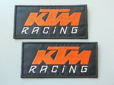 Patch Ktm Racing Nero N.2 Ricamate Termoadesive Cm 10 X 5-Co.504
