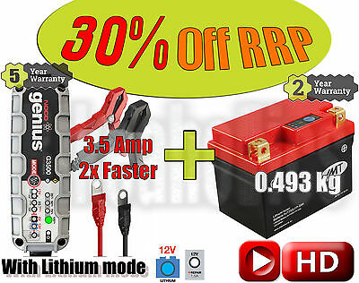 Lithium Deal - Battery + 3.5A charger - KTM SX-F 350 i.e 4T - 2011