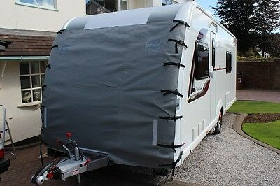 Caravan Front Towing Cover Chip Protection Universal Size C/W LED Lights & Bag !