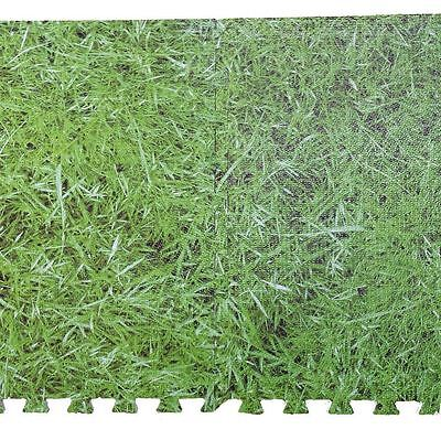 Interlocking Grass Effect Eva Mat Floor Tiles Soft Foam Protection Kid Play Room