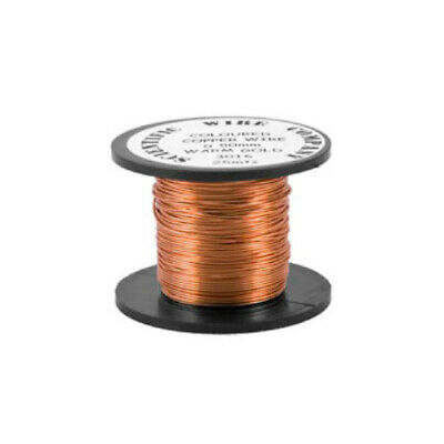 1 x Pale Bronze Plated Copper 0.5mm x 15m Round Craft Wire Coil W5016