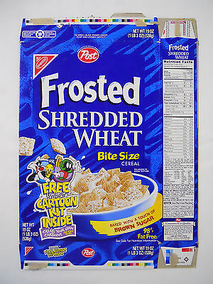 1997 Post Frosted Shredded Wheat Cereal Box-Cartoon Network Looney Tunes Kit