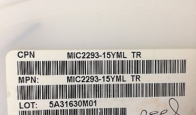 x200pcs **NEW** MICREL MIC2293-15YML, PWM LED Driver, 2.5 - 10V, 8-pin MLF