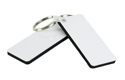 MDF Rectangle Shape Keyring for Sublimation Printing Heat Press Transfer 110850