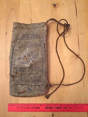 Vintage Tatham's Drop Shot 8 Bag New York 25 lbs American Standard Rope Top SacK