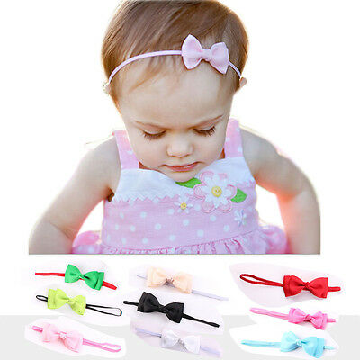Baby Bow Satin Ribbon Elastic Headband Hair Accessories For Toddler Baby Girl