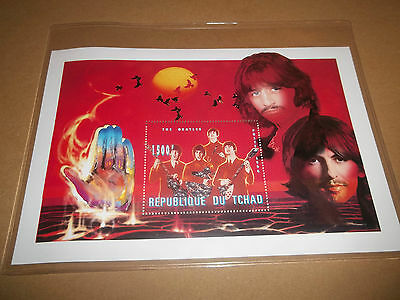 Beatles Official Chad Stamp With Coa Ltd Ed ( Early Days )
