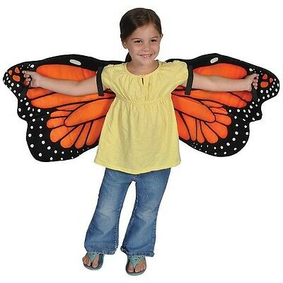 Plush Monarch Butterfly Wings Dress Up for Kids
