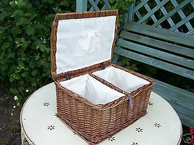 Wicker Honeycroft Dark Nappy Stacker Farmhouse French  Traditional  Basket Gift