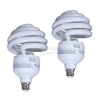 2x Top Spiral 30W 5000K Compact Fluorescent Bulb Photo Studio Lighting Lamp