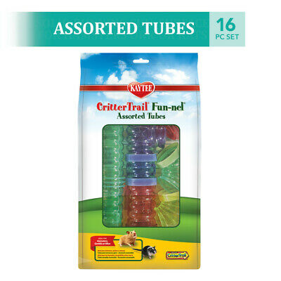 Super Pet Crittertrail Fun-Nels Assorted Tubes 16 Pieces Free Shipping