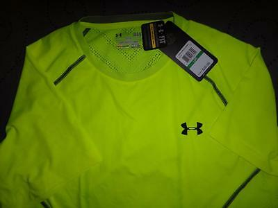 UNDER ARMOUR COLD BLACK RUNNING FITTED SHIRT 2XL MEN NWT $39.99