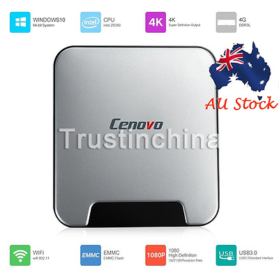 Cenovo Windows 10 HD Smart TV BOX Intel Z8350 4GB/64GB 4K Mini PC WiFi Bluetooth