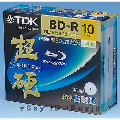 10 TDK 4x 50GB Blu-ray BD-R DL Discs TDKBLD-RFB-000 *Repacked in Sleaves* BDR