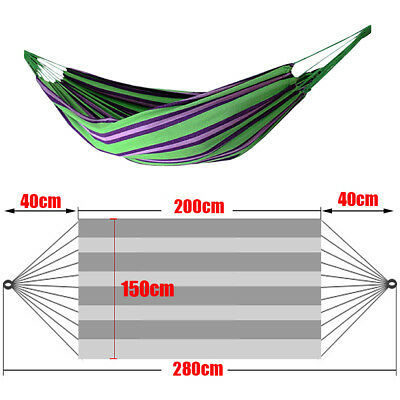 Large Outdoor Garden Patio Double Cotton Rope Hammock Swing Bed Travel Camping