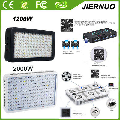 NEW 600W 1000W 2000W Watt LED plant Grow Light Kits Panel Lamp Hydroponics Vegs