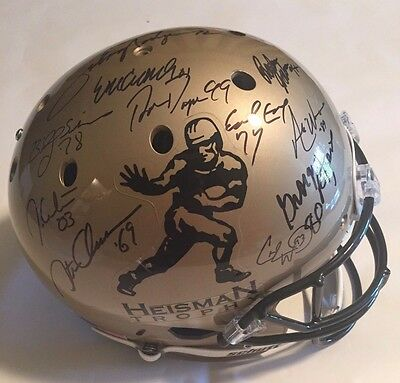 13 Heisman Trophy Winners Autographed Full Size Helmet Tristar Authenticated