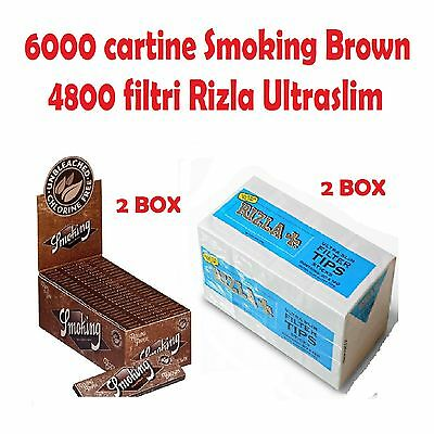 6000 CARTINE SMOKING BROWN CORTE<br />4800 FILTRI RILZA ULTRASLIM