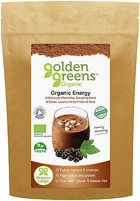 Greens Organic Energy - 100g - Energising Blend of Cacao, Lucuma, Hemp & Maca