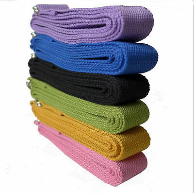 Yoga Stretch Strap D-Ring Waist Leg Fitness 183CM Strength Training Weight Belt