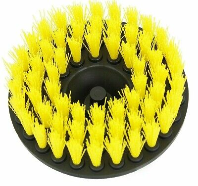 "Two Scrub Brushes Upholstery Car Carpet Mat 5"" Round w/Power Drill Attachment"
