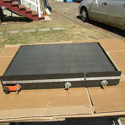 Die Cast Rolling Steel  Table To Carry Material Under A Saw