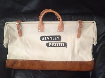 """Stanley Proto Professional 24"""" Canvas & Leather Tool Bag - NEW - Made in USA"""