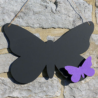Chalk Blackboard Butterfly Shape for Memos Notes & Home Decor Shape B Insect
