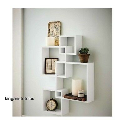 FLOATING WALL SHELVES Home Decor Display Furniture White Square Extraordinary White Square Floating Shelves
