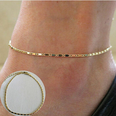 New Arrival Gold Simple Adjustable Ankle Bracelet Chain Anklet Foot Jewelry