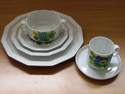 Rosenthal Studio-Linie  84 Piece  Polygon Floral Dinner Set -Made In Germany