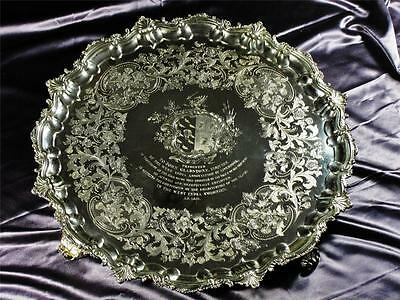 A HISTORICALLY IMPORTANT PAUL STORR SOLID SILVER PRESENTATION SALVER - 6,450 gr.