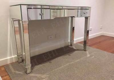 2 Drawers Mirrored Makeup Vanity Table/Dressing Table - Mirror furniture