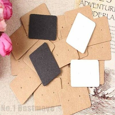 500Pcs Jewelry Earring Ear Studs Hanging Display Holder Hang Cards Brown