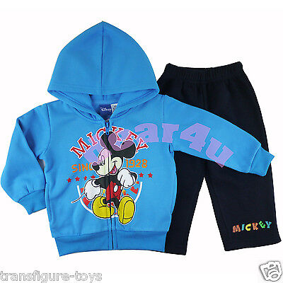 Mickey Mouse kids Boys hoodie tracksuits outfit size 1 2 3 4 AU stock fleece new