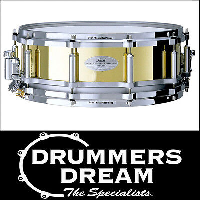 """Pearl Free Floating Brass 14"""" x 5"""" Snare Drum  NEW FTBR1450"""