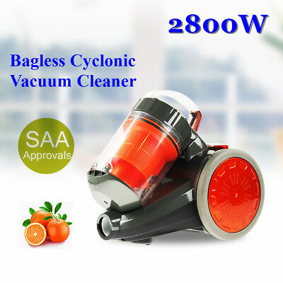 Multi 2800W Cyclonic Bagless Vacuum Cleaner New SAA Filtration System Brush Hot