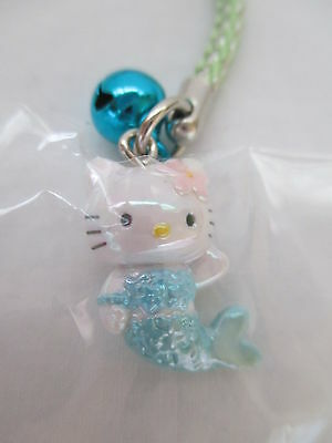 Hello Kitty Strap Charm - Sanrio - Gotochi Blue Mermaid - Japan KAWAII