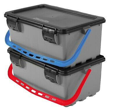 Numatic 629631 BK11 Mopmatic-Moppbox Set Mopbox blau & rot + Deckel + Halterung