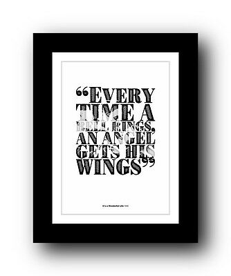 It's a Wonderful Life ❤ Typography movie quote poster limited edition print #52