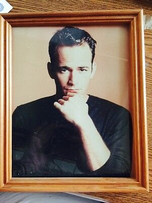 Luke Perry Autographed Photo With COA And Nice Picture Frame