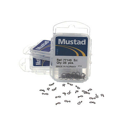 Mustad Classic Fly Fishing Tackle Snap Hooks Links Trout Salmon Size 2 / 25 Pcs