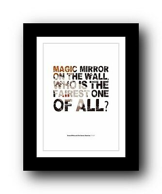 Snow White and the Seven Dwarves ❤ Typography movie quote poster print #71