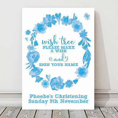 Birthdays and Baptisms in Blue//Pink or Green Star Design Personalised Guest Book Table Sign for Christenings ST6