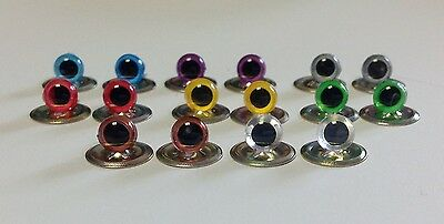 Various 6mm EYES with METAL BACKS for Teddy Bear Making Soft Toy Doll Animal