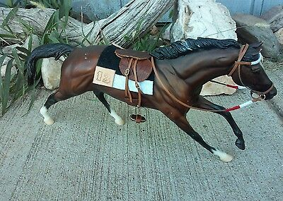 Breyer horse custom Nyquist race saddle set Kentucky Derby