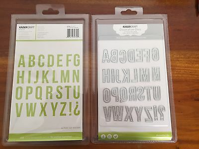 KAISERCRAFT DECORATIVE DIE SET ~ Alphabet Uppercase