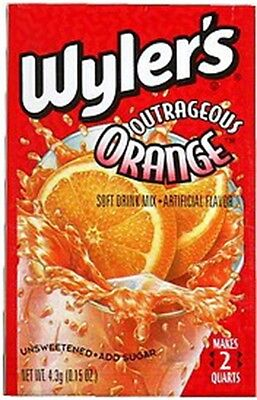 Wylers Outrageous Orange Drink Mix .14 Oz